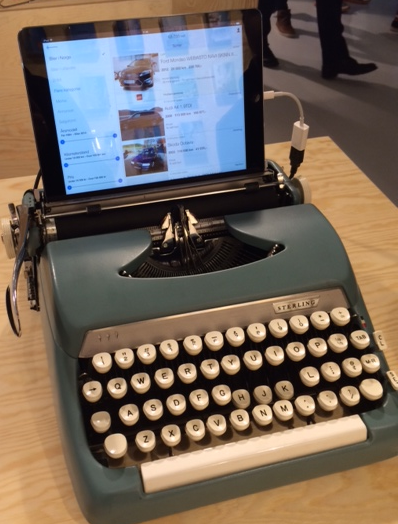 iPad skrivemaskin
